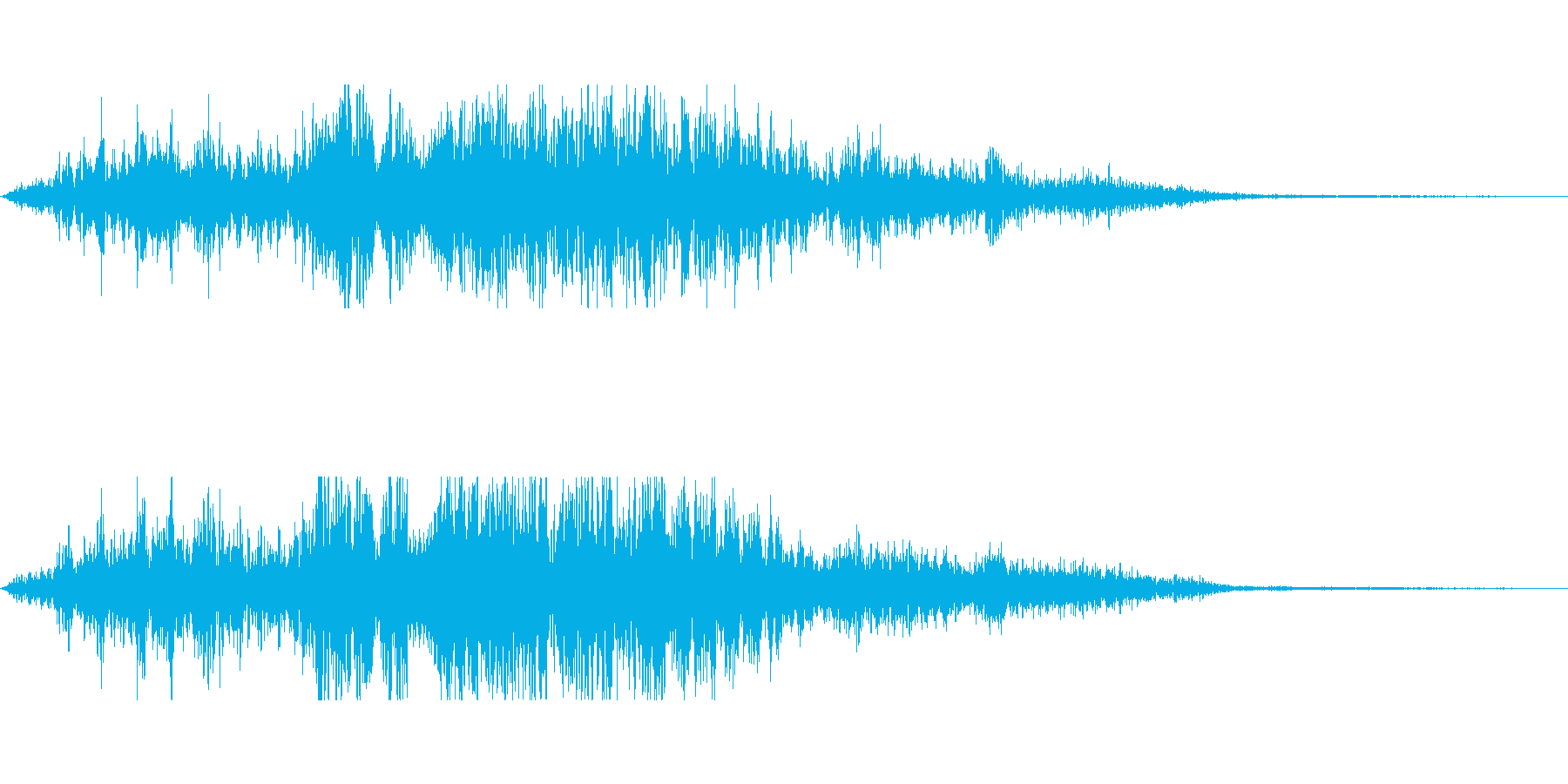 隙間風の再生済みの波形
