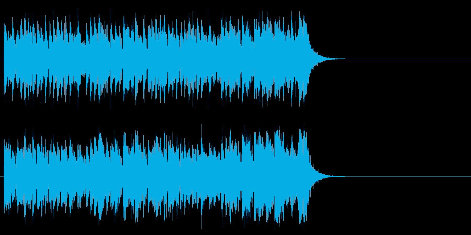 活気あふれるポップ(サビ)の再生済みの波形