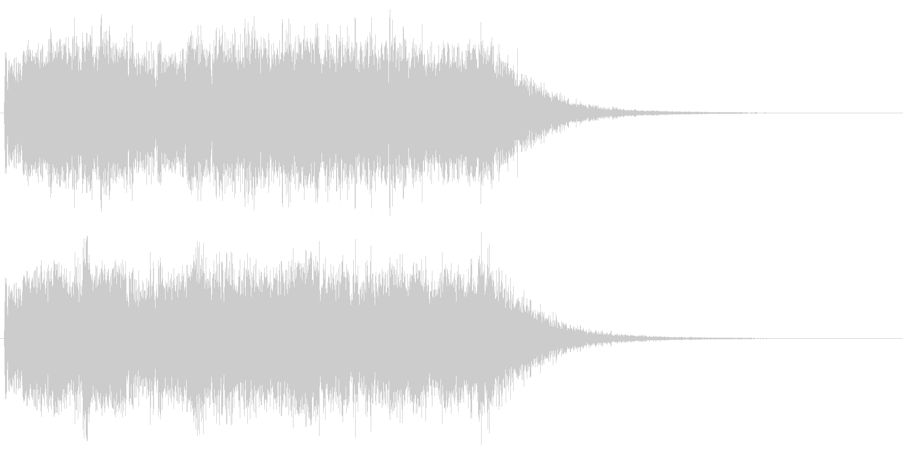 ヘヴィーメタルなギターのキメフレーズ の未再生の波形