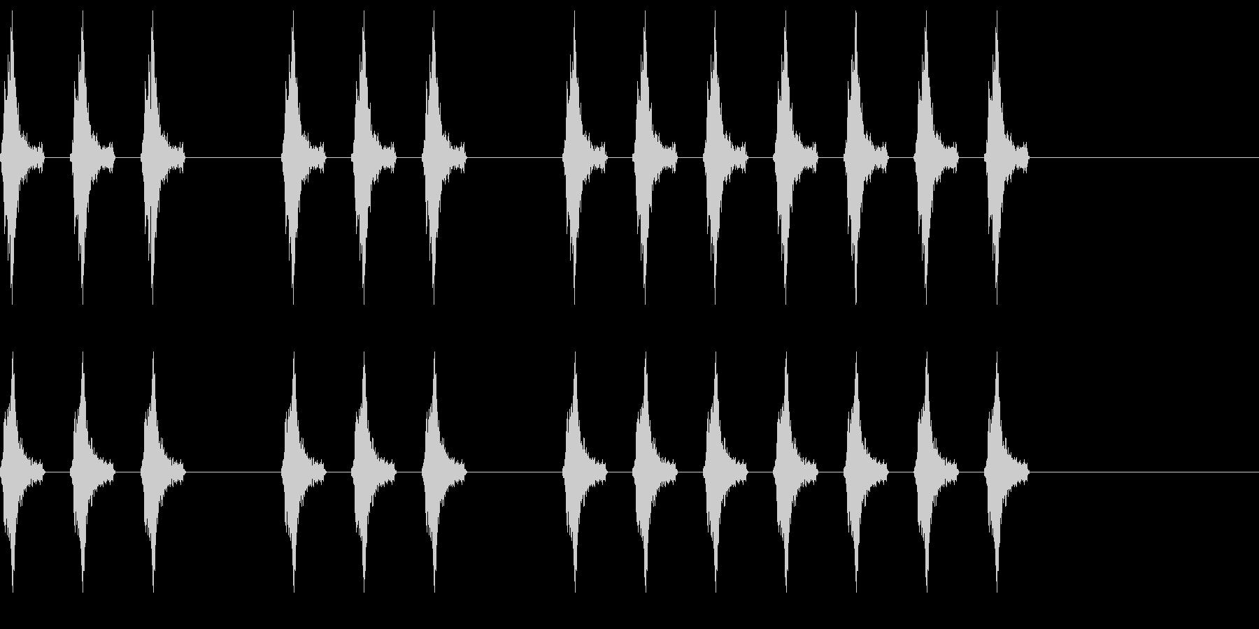 三三七拍子 その9 の未再生の波形