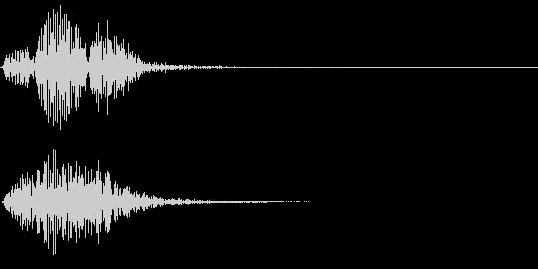 ホルンの和音~サウンドロゴ・動作終了音~の未再生の波形