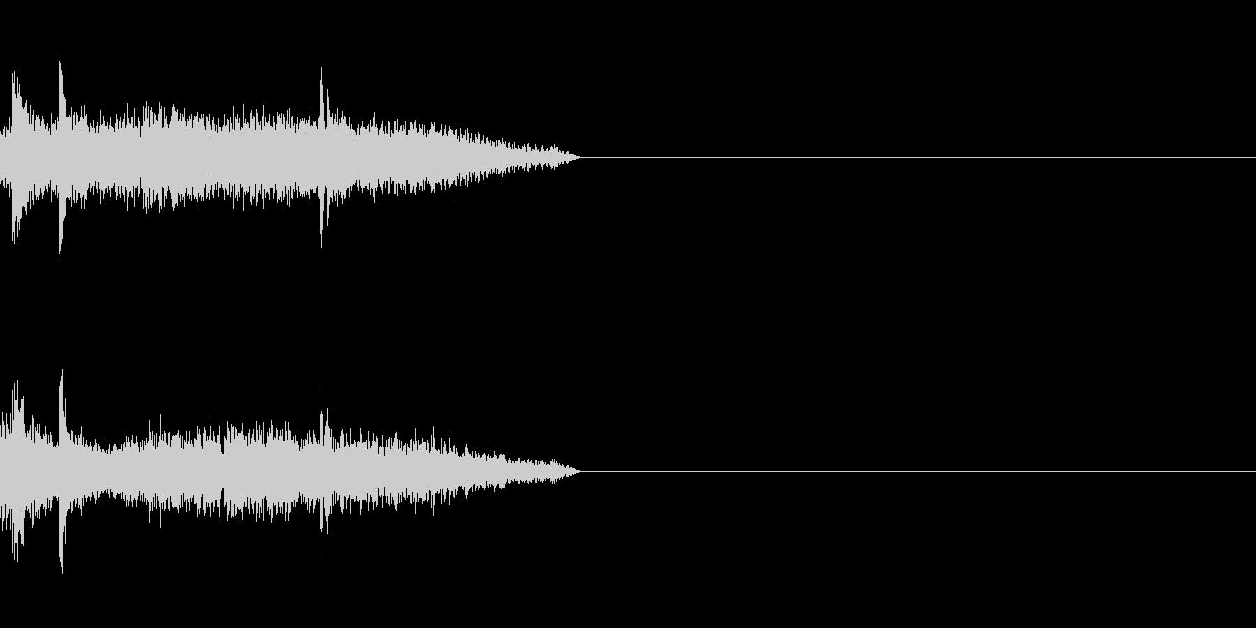 剣の擦れる音の未再生の波形