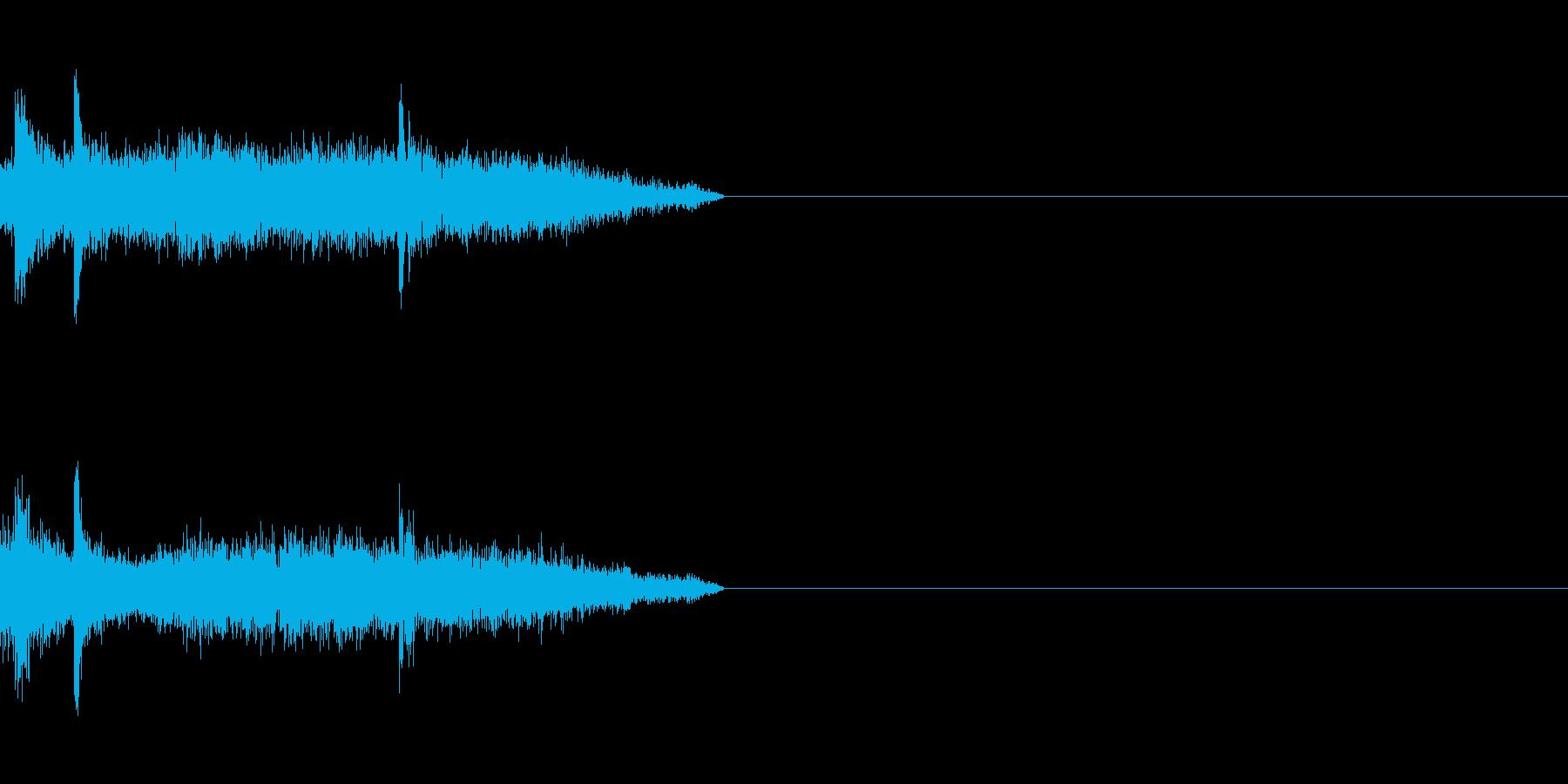 剣の擦れる音の再生済みの波形