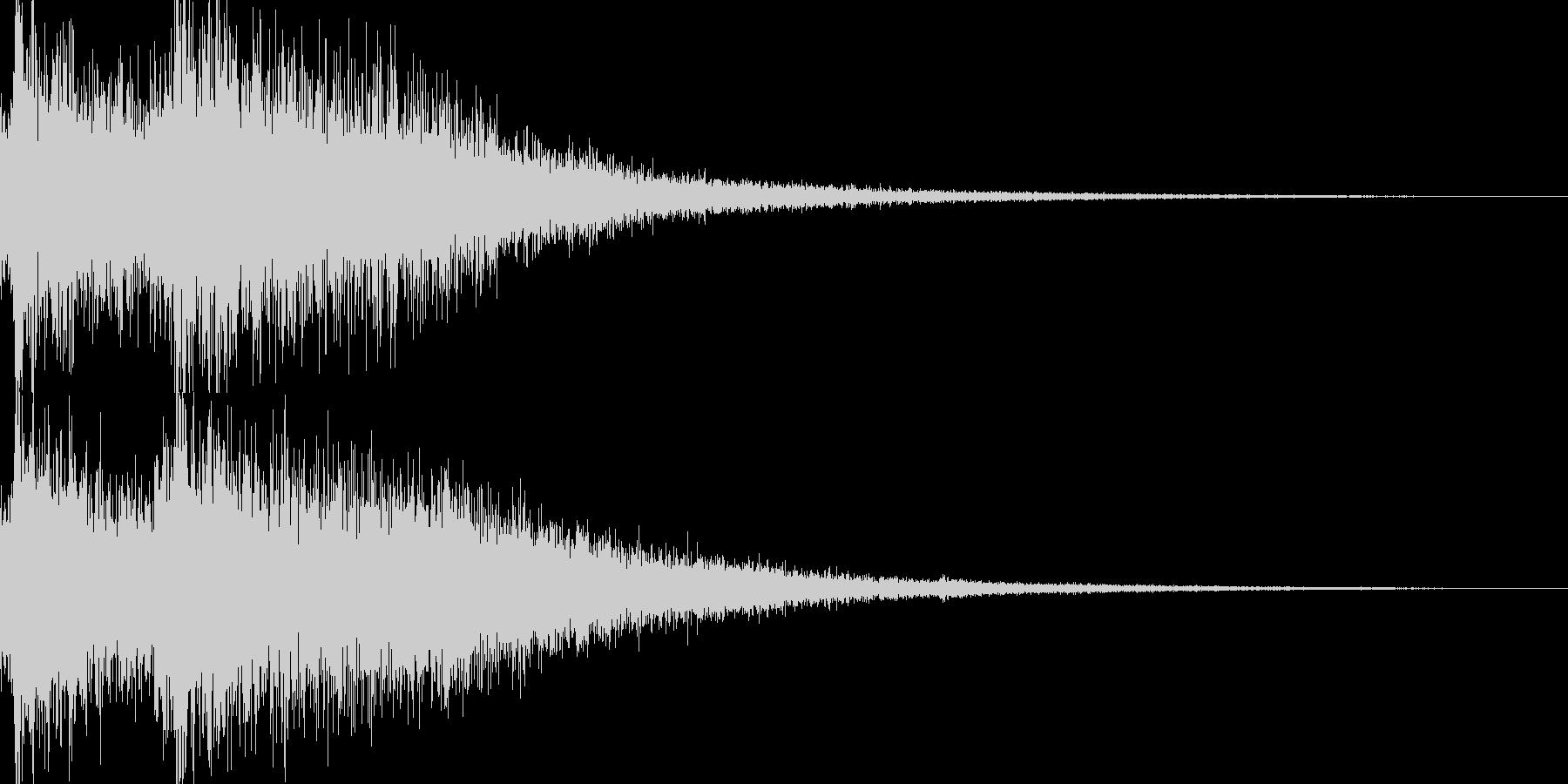 クイズ出題音1の未再生の波形