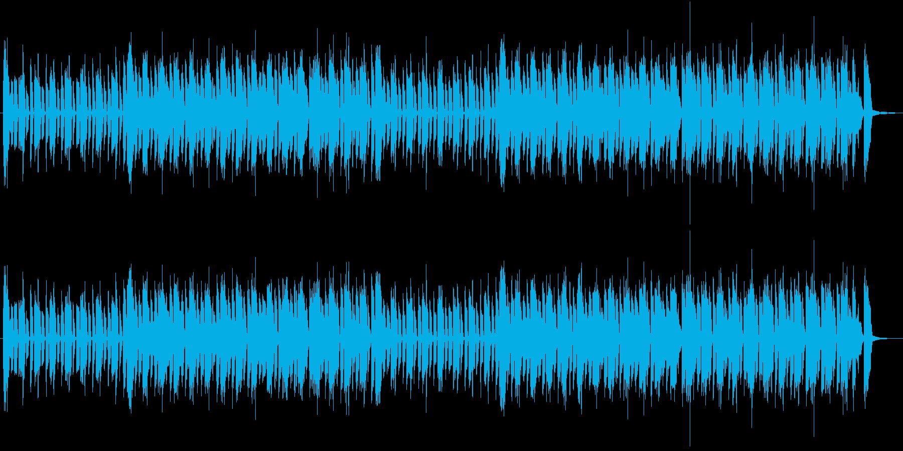 騒がしい日常系の音楽の再生済みの波形