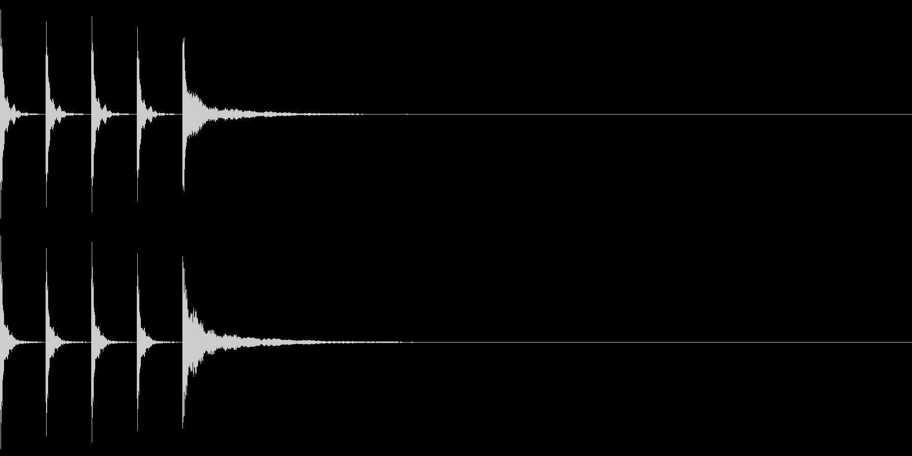 ポクポクポクチーン 木魚その2の未再生の波形
