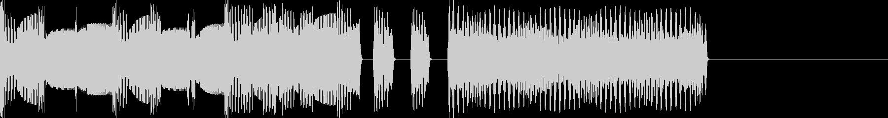マリオ風ファミコン曲ステージクリア(短)の未再生の波形
