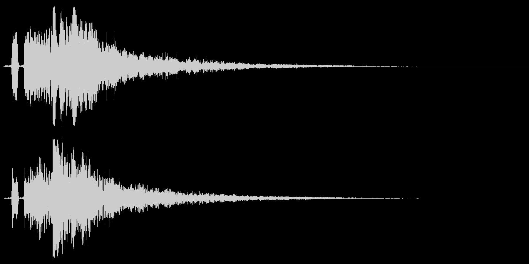 シンプルな決定/ボタン/クリック効果音5の未再生の波形
