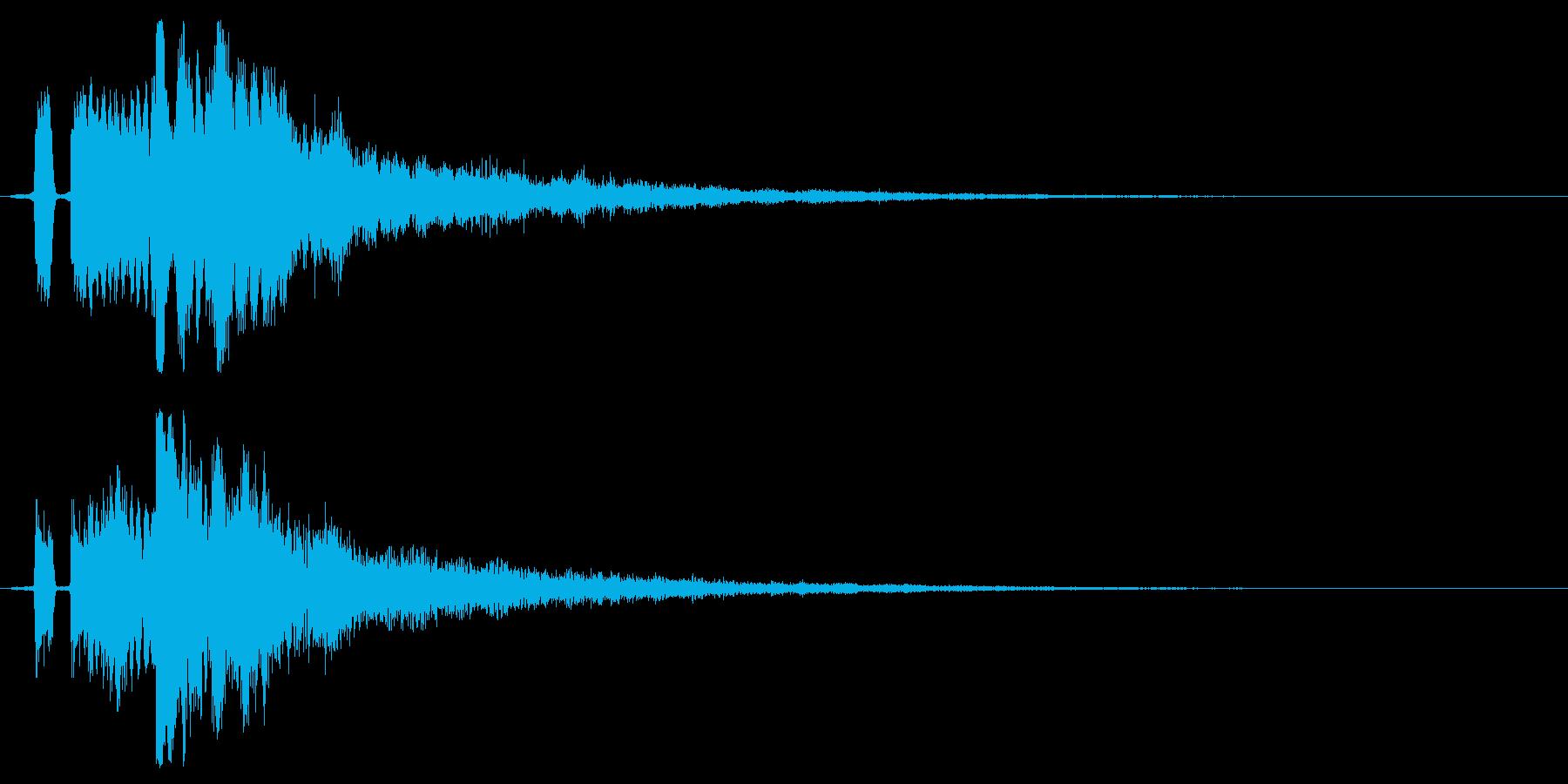 シンプルな決定/ボタン/クリック効果音5の再生済みの波形