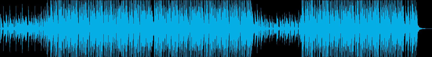チュートリアル動画向け朗らかヒップホップの再生済みの波形