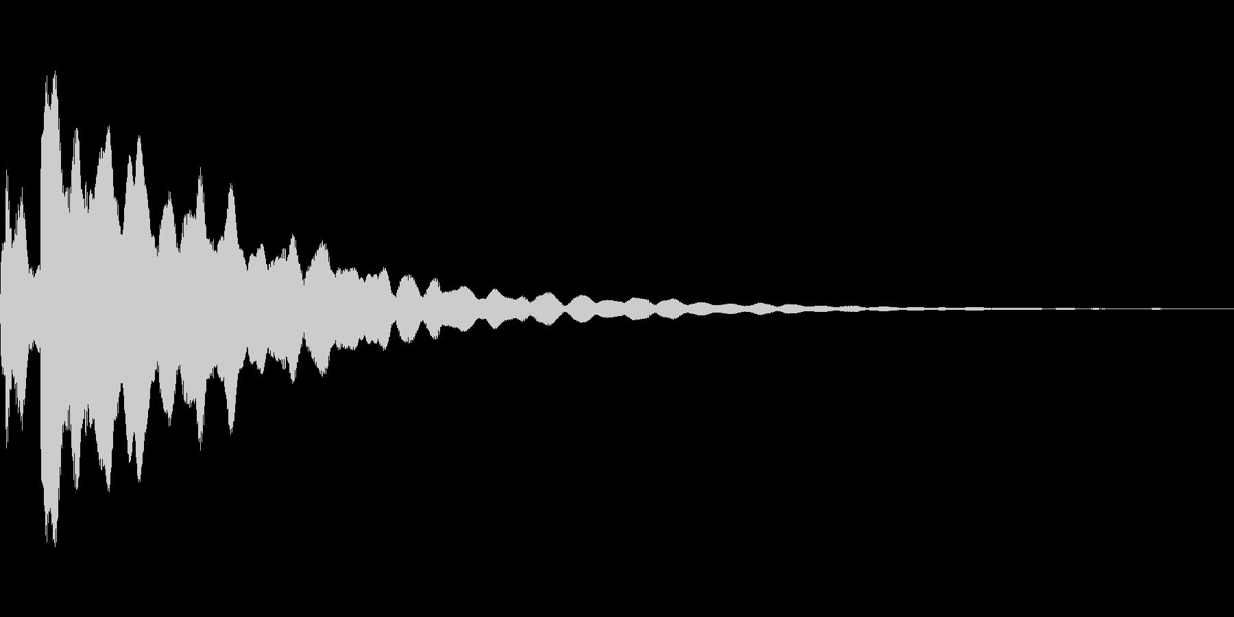 ピキーン(光などのきらめき音)の未再生の波形