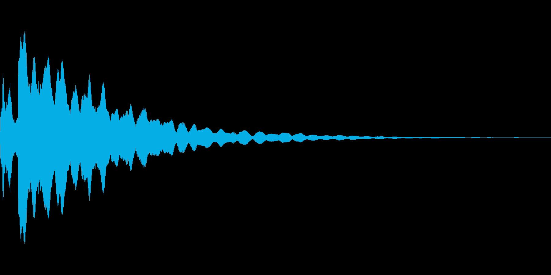 ピキーン(光などのきらめき音)の再生済みの波形