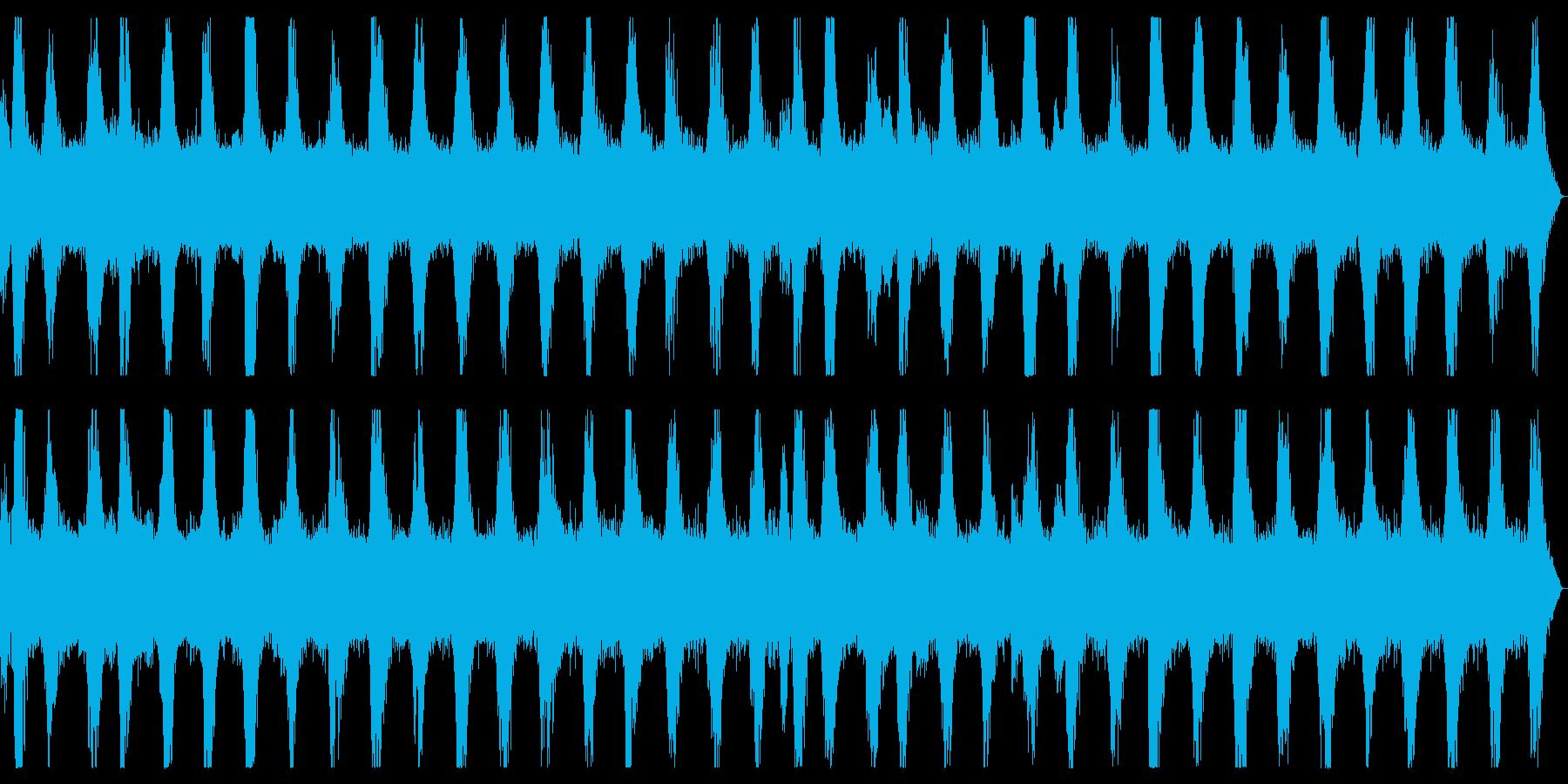 ダークアンビエント ホラーなノイズBGMの再生済みの波形