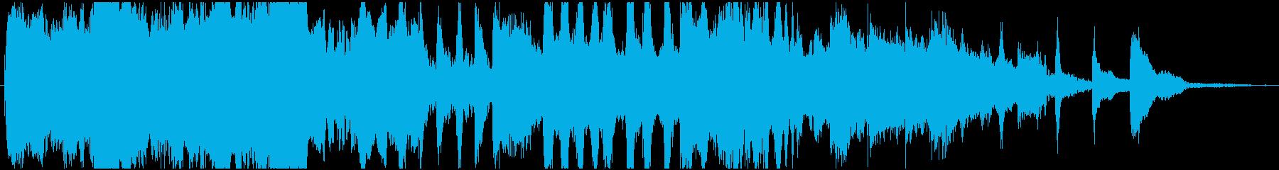 可愛らしいオーケストラワルツのジングルの再生済みの波形