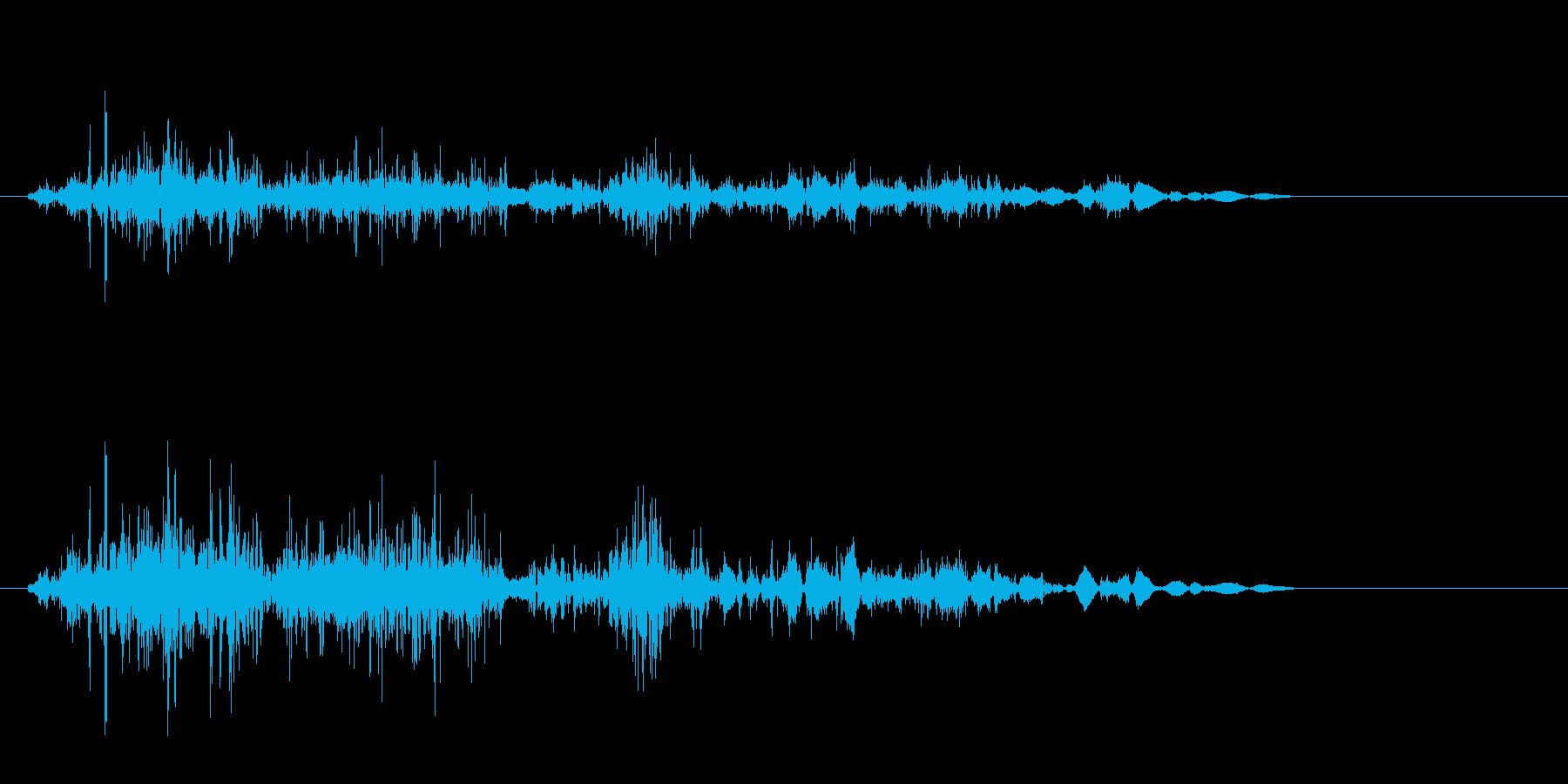 クシャッ(摩擦音)シンプルの再生済みの波形