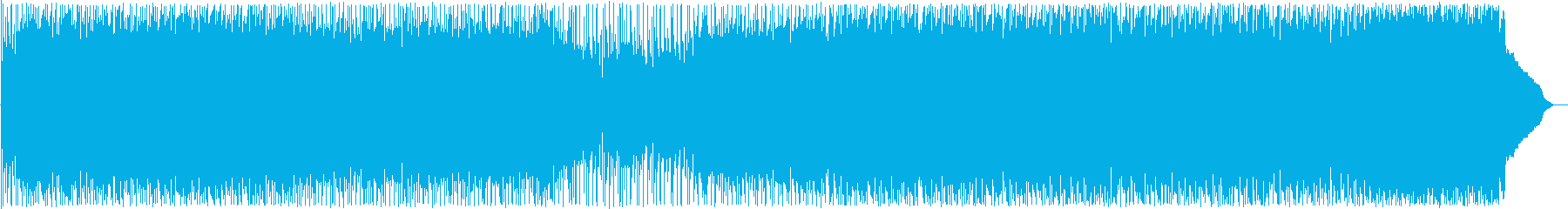 はじける印象のドラム・ギターサウンドの再生済みの波形