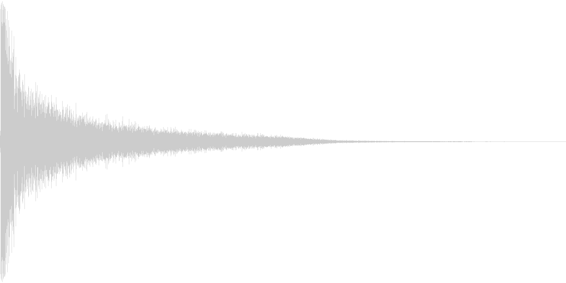ピシーン。思い出す・睨む音(高)の未再生の波形
