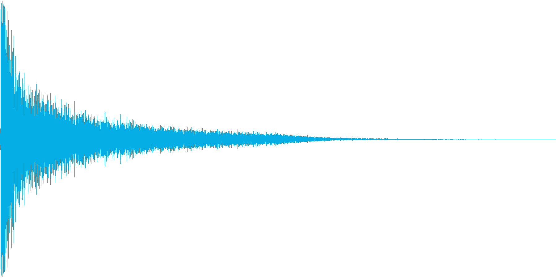ピシーン。思い出す・睨む音(高)の再生済みの波形