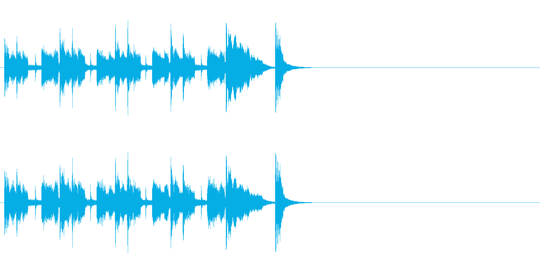 クイズ・アトラクション用ジングルの再生済みの波形