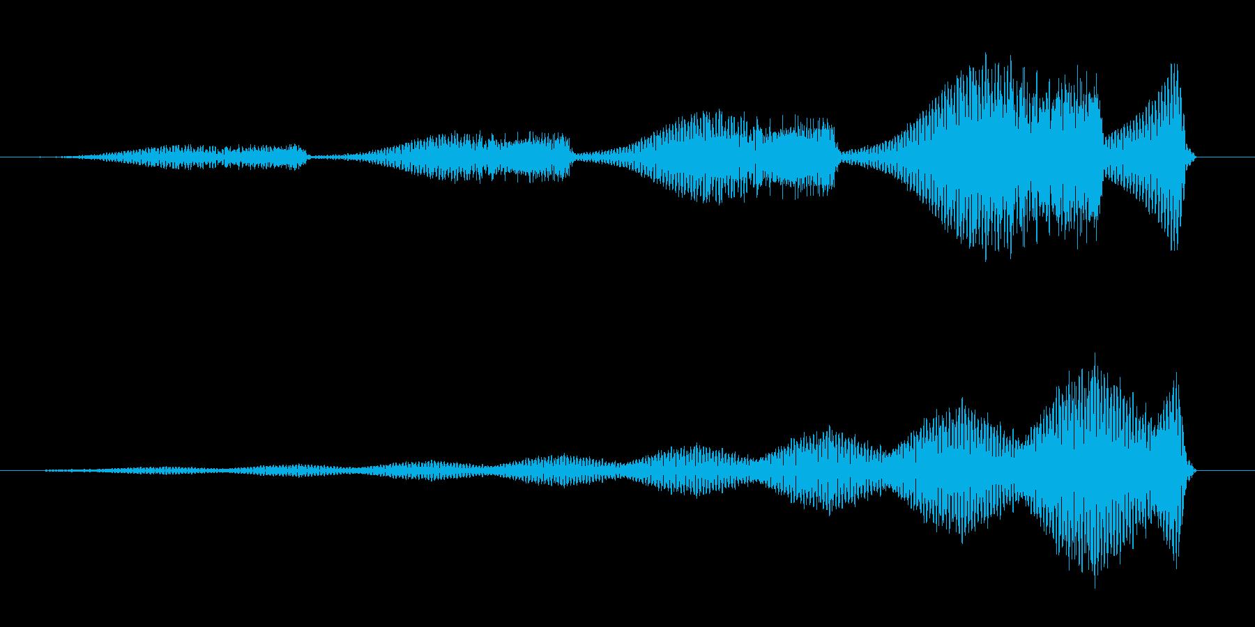 ブアブアブアブア (怪奇な音)の再生済みの波形