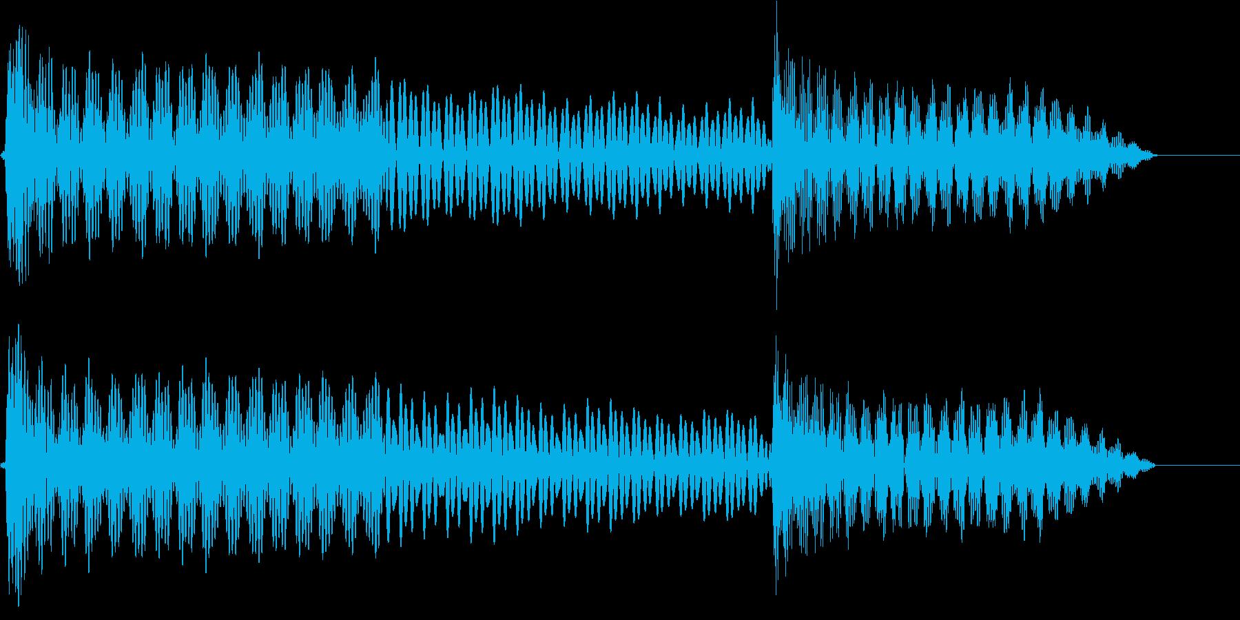 UI系 カーソル戻り ティロリの再生済みの波形