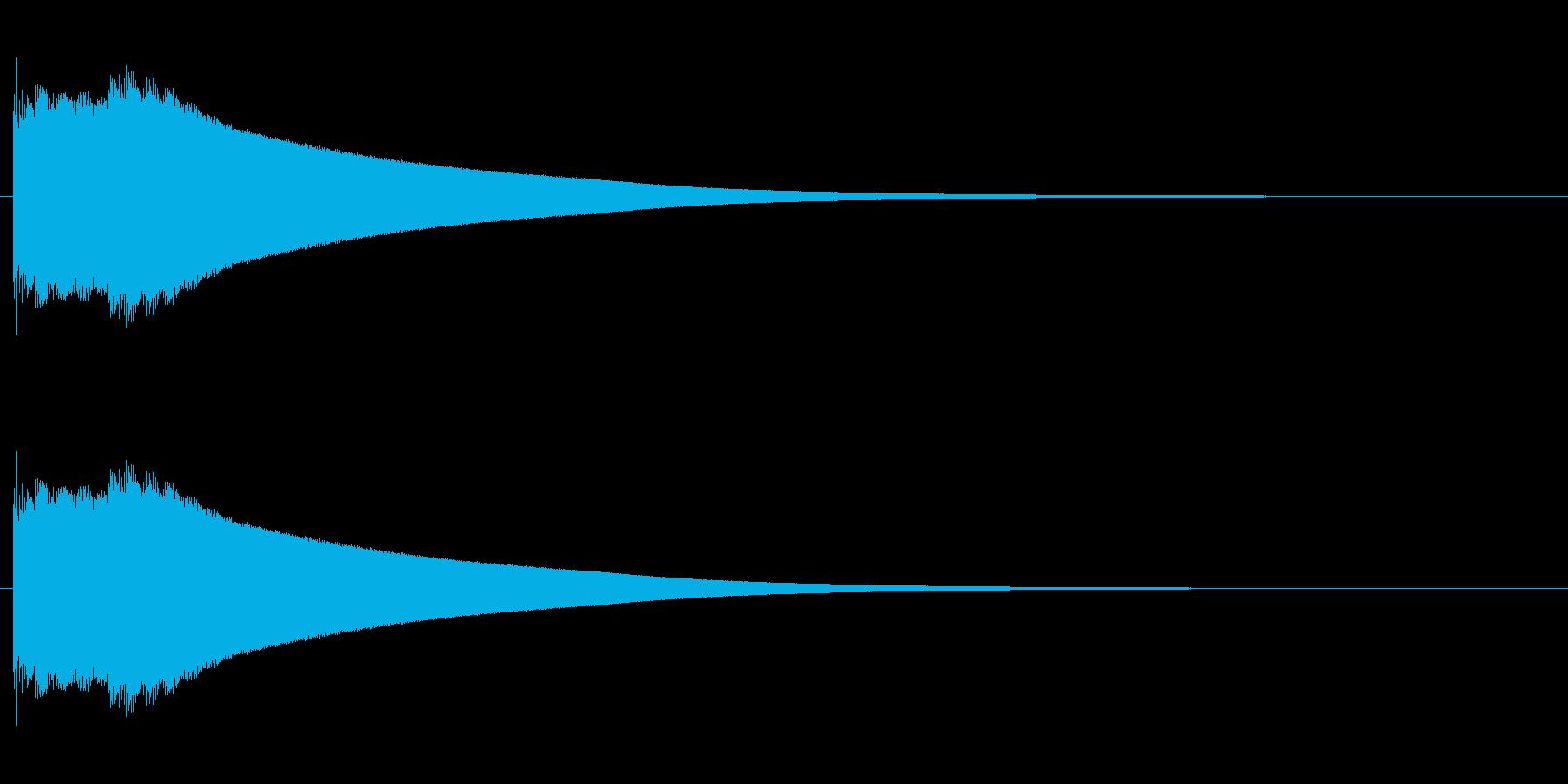 キコーンという金属音の再生済みの波形