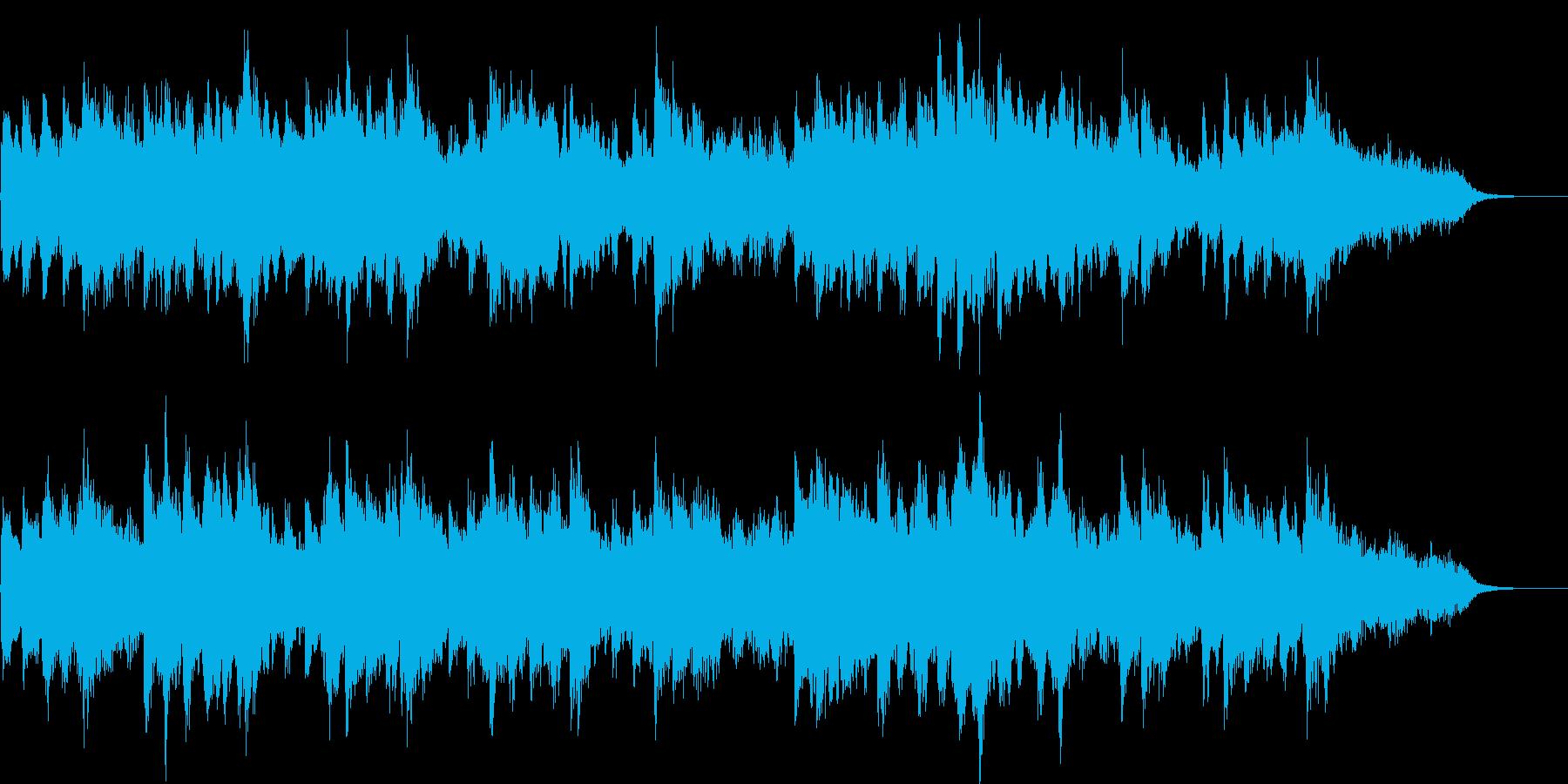 ピアノとシンセの切ないバラードジングルの再生済みの波形