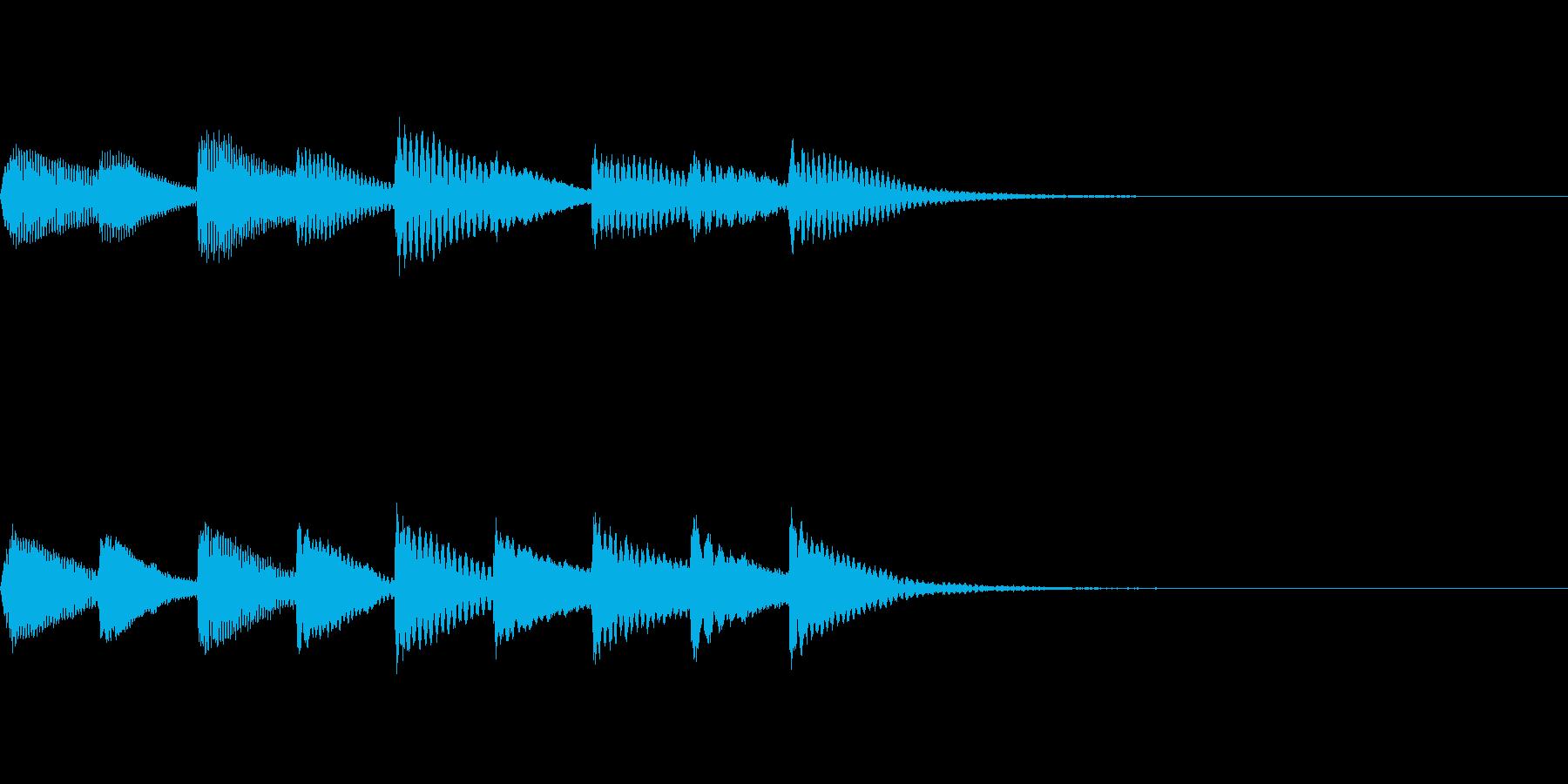 銀行ATMの音の再生済みの波形