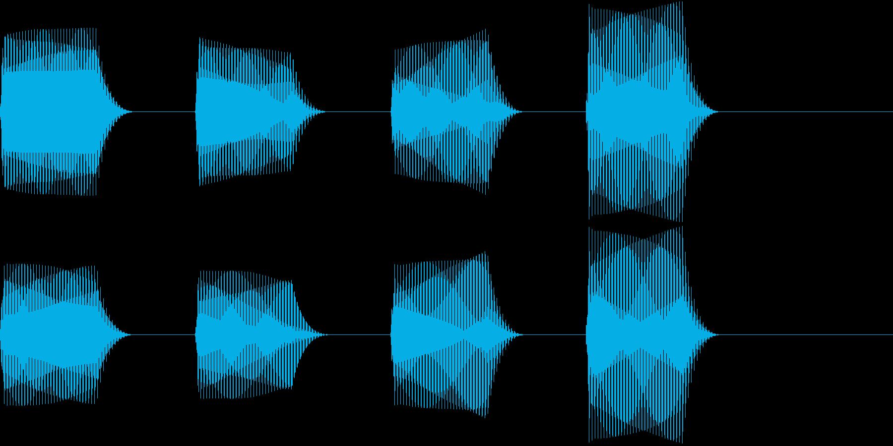 アプリなどの警告音・ポップアップ表示音の再生済みの波形