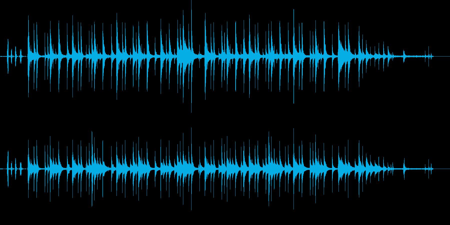 生音重視のオルゴールの再生済みの波形