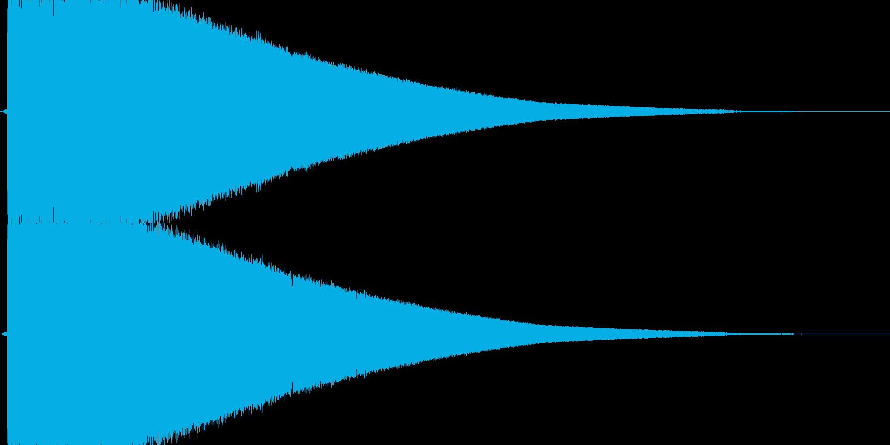 「ドシャーン」衝撃波、粉砕の再生済みの波形