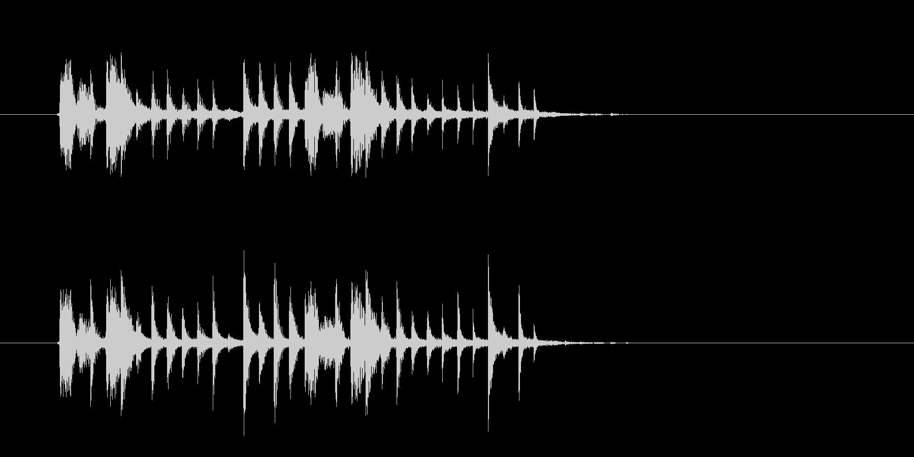 クールでスタイリッシュなテクノの未再生の波形