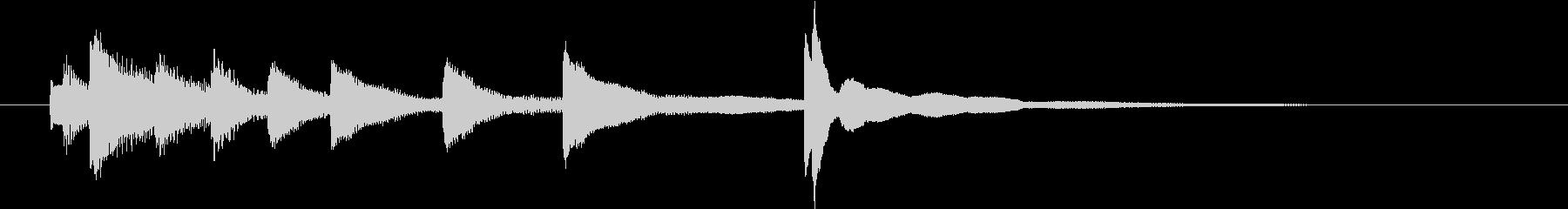 ピアノのジングルの未再生の波形