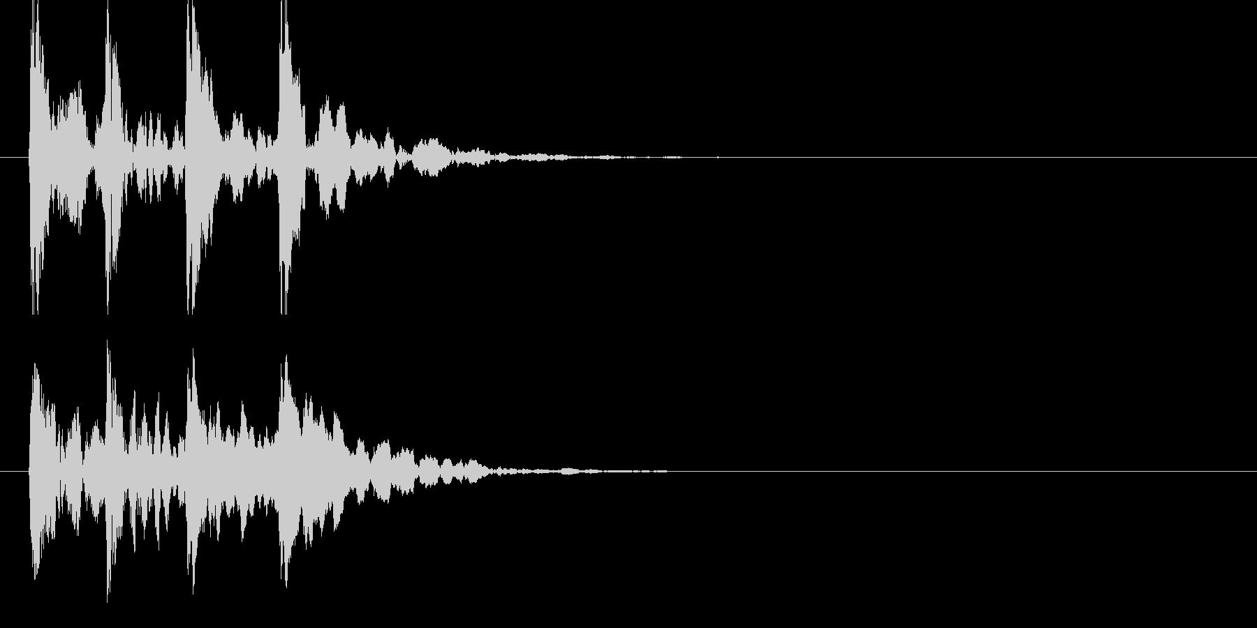 トントントントンの未再生の波形