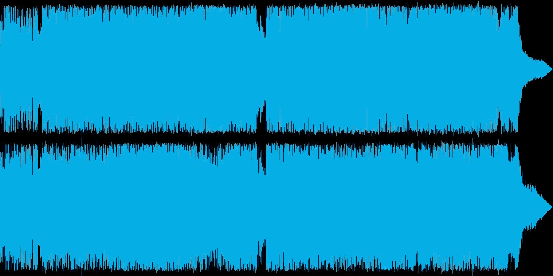 重低音ゴリゴリ系ロック、戦闘BGM向けの再生済みの波形