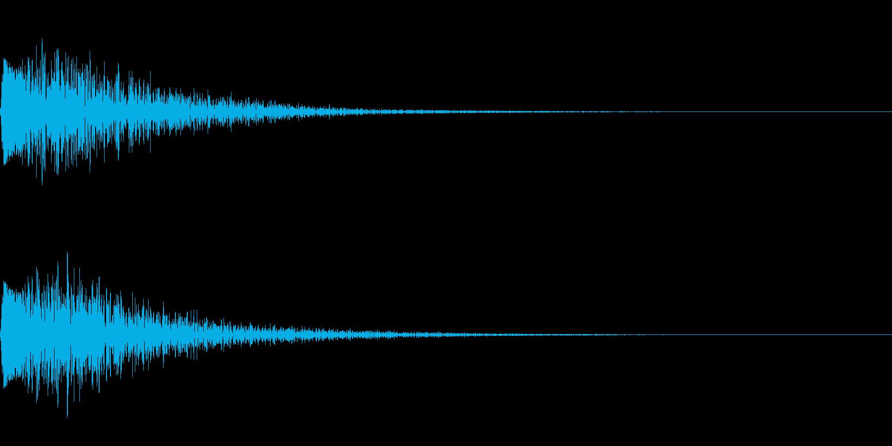 金属の叩くような音の再生済みの波形