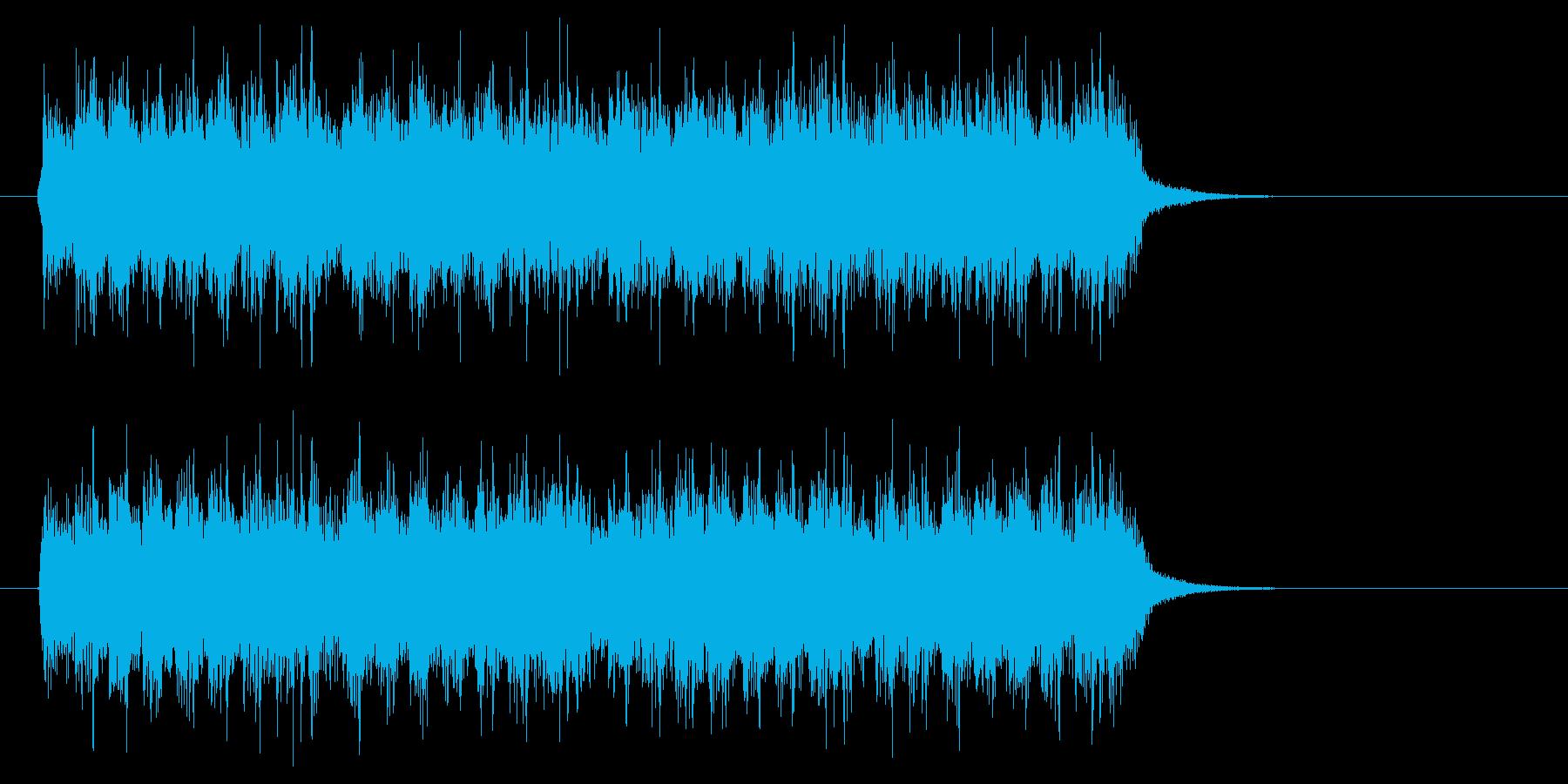 ジングル(ヘヴィメタ風)の再生済みの波形