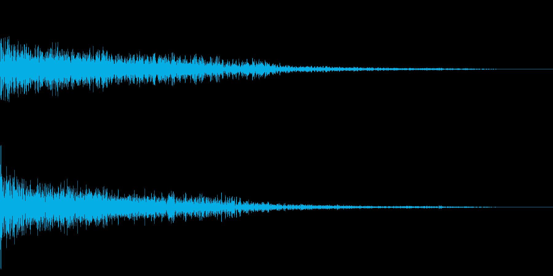 ホラー系アタック音13の再生済みの波形