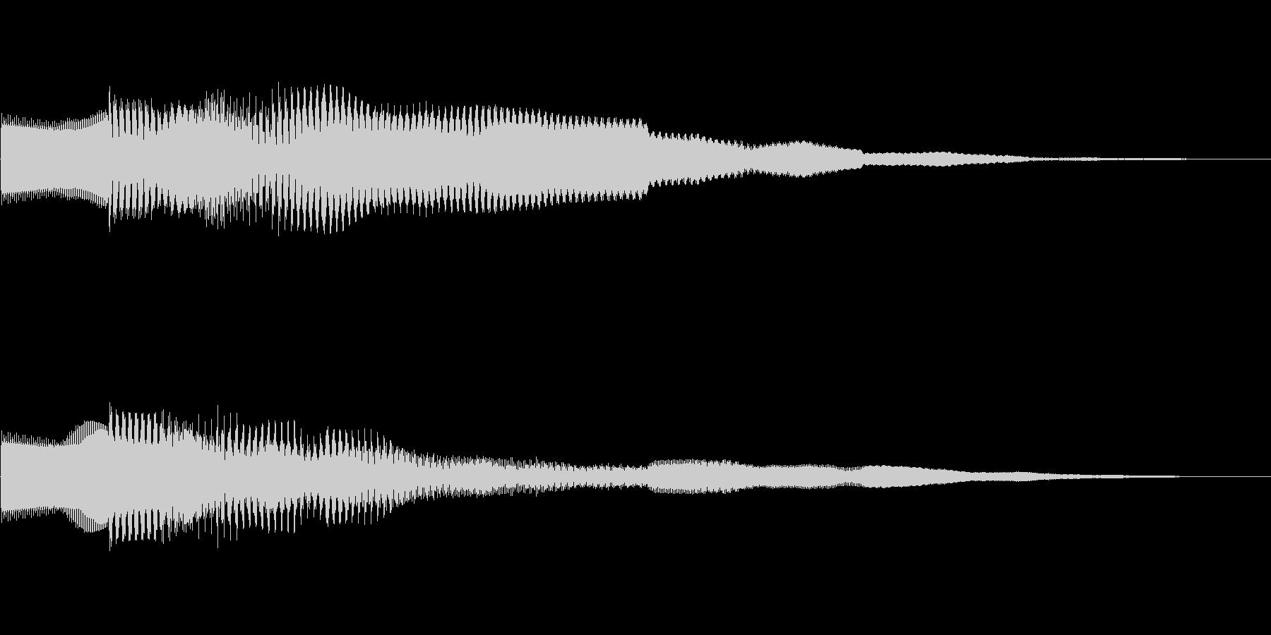 ピコーン!!クイズ回答タッチ 01の未再生の波形