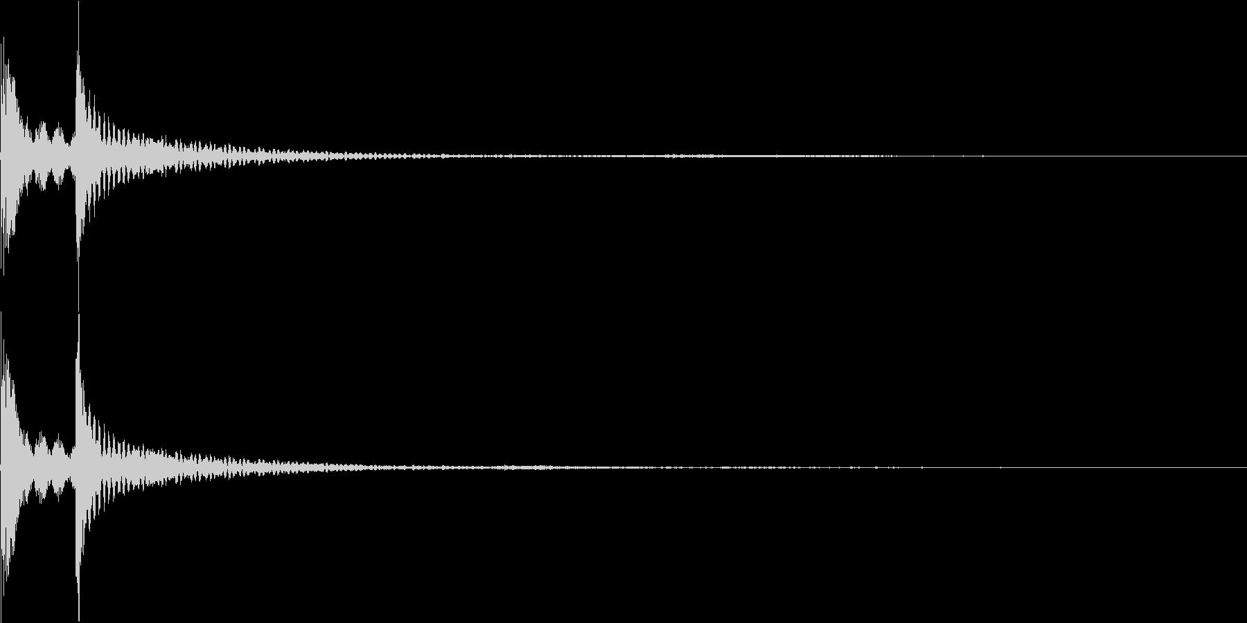 カコン(カーソル移動、決定、アイテム)の未再生の波形