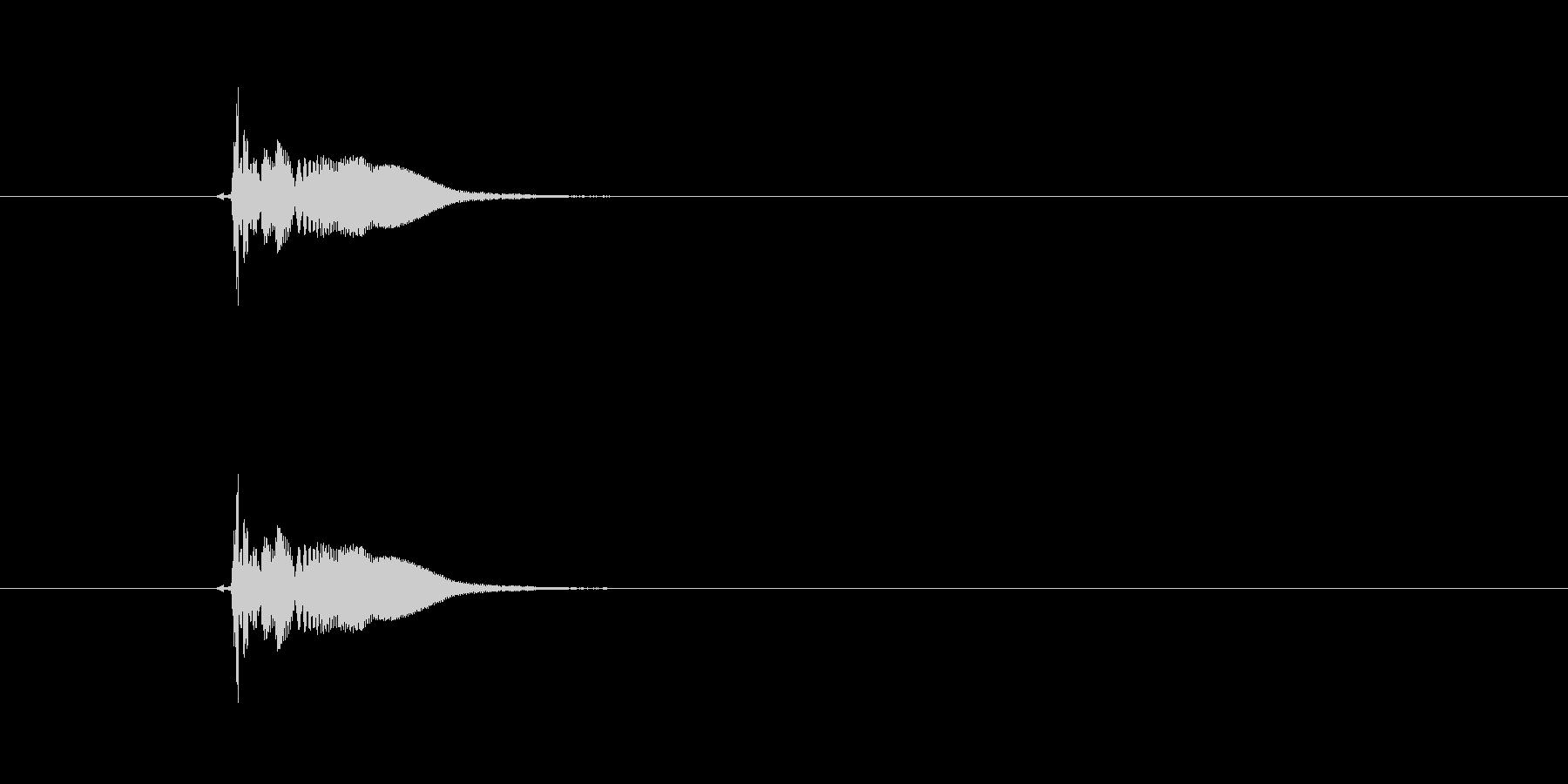 ピヨーン(飛ぶ、投げる、コミカル)の未再生の波形