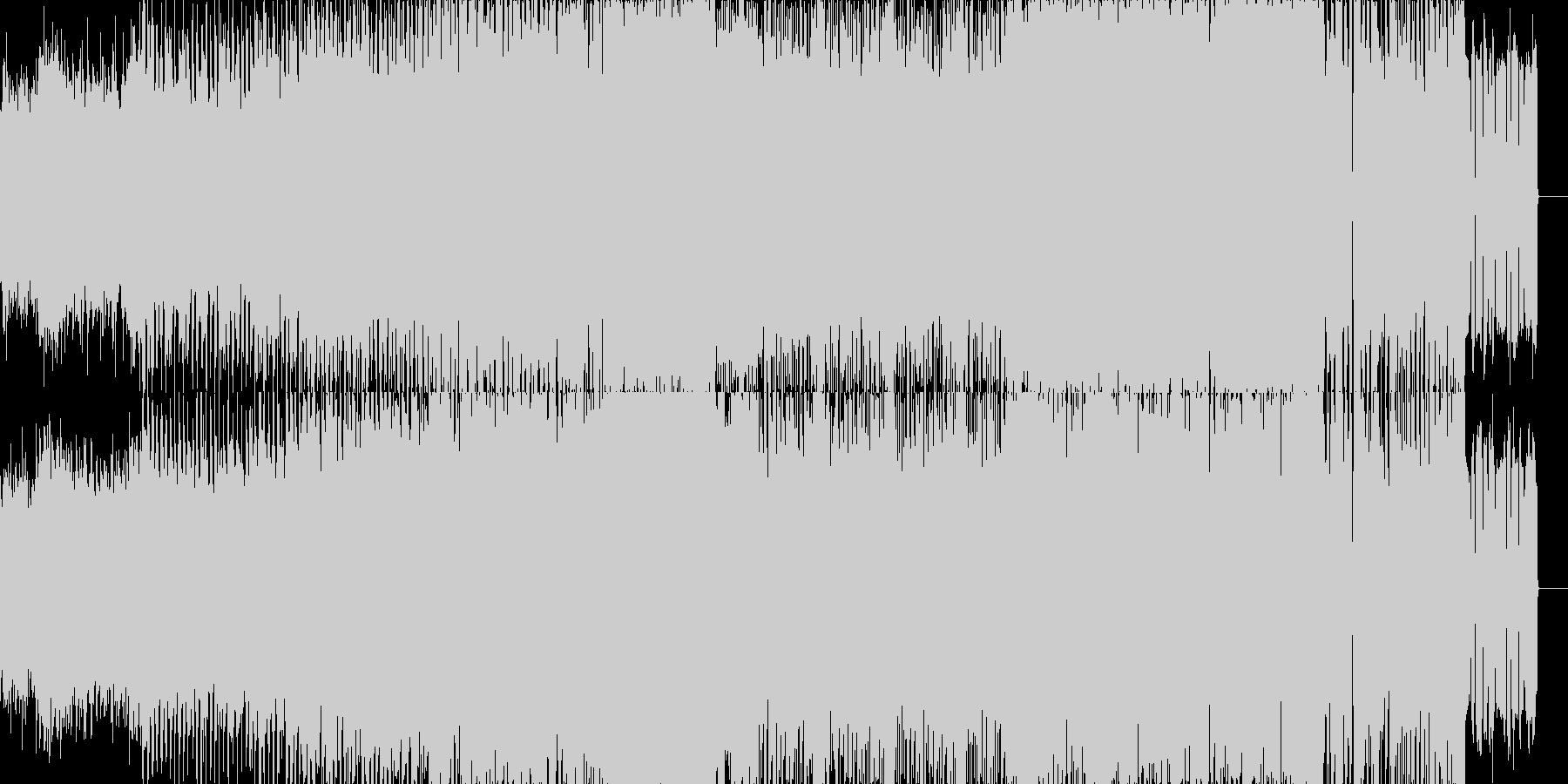 EDM風インストナンバーの未再生の波形
