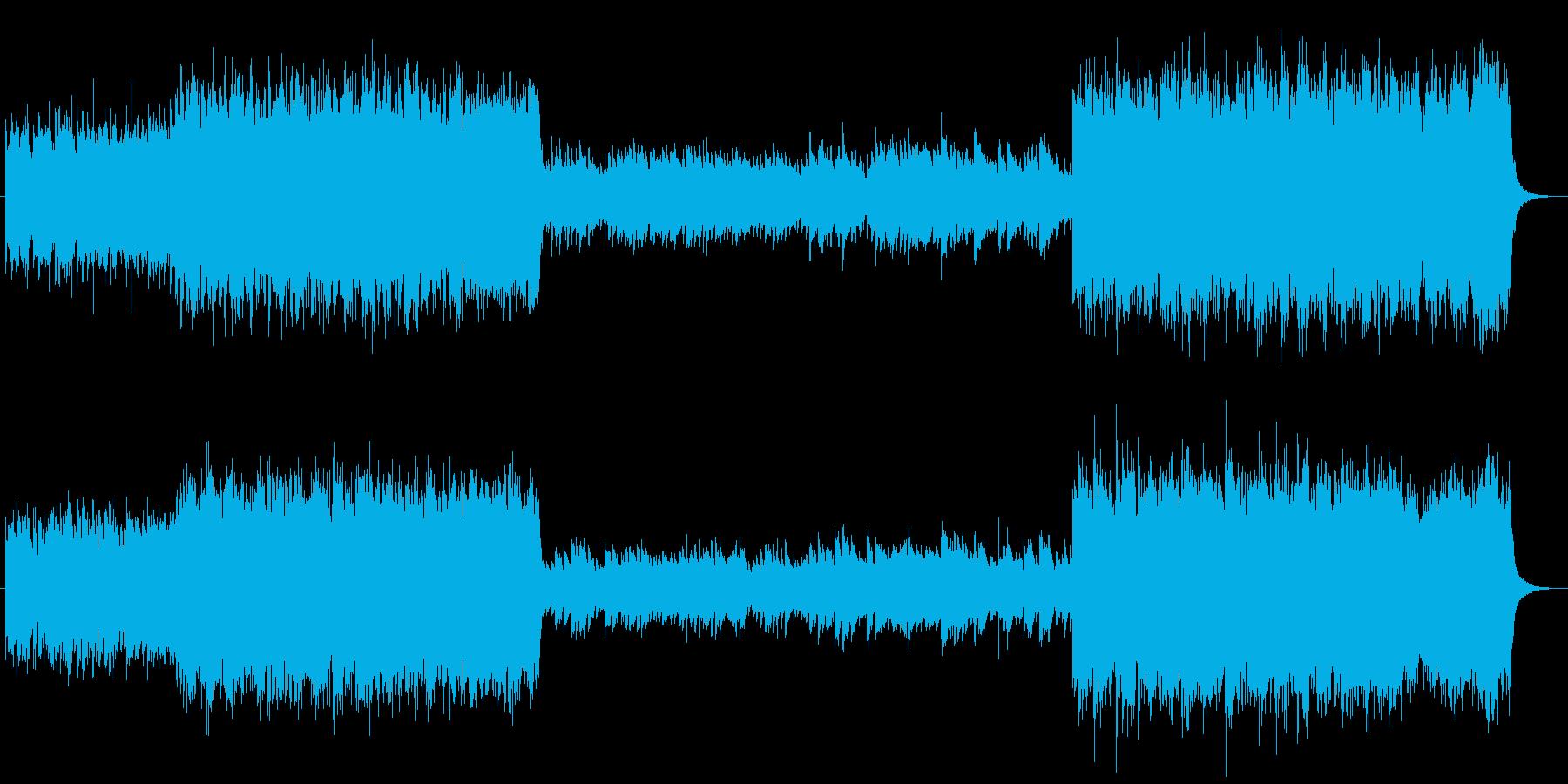 哀愁のあるピアノとストリングスの曲の再生済みの波形