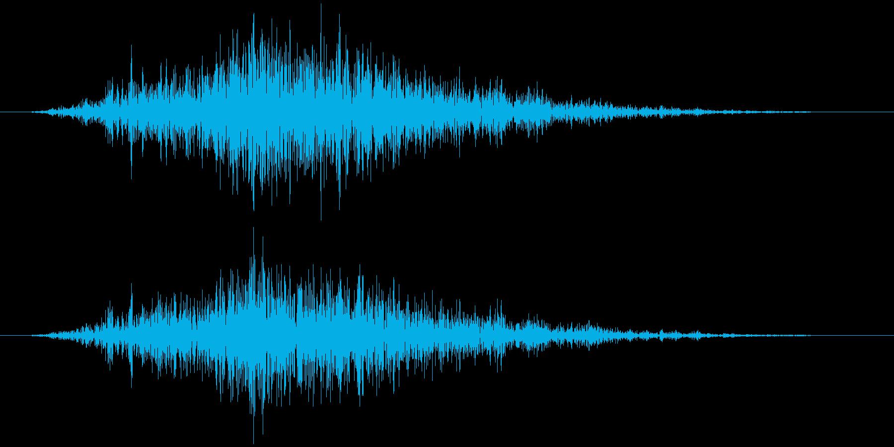 スプレー(霧吹き) シャッの再生済みの波形