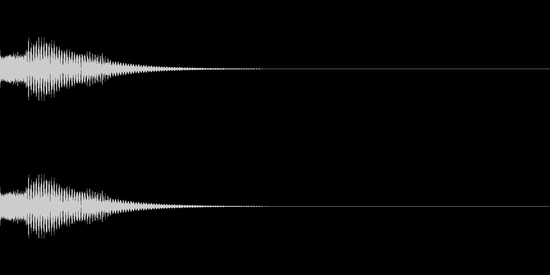 短いマリンバ着信音とバイブ音の未再生の波形