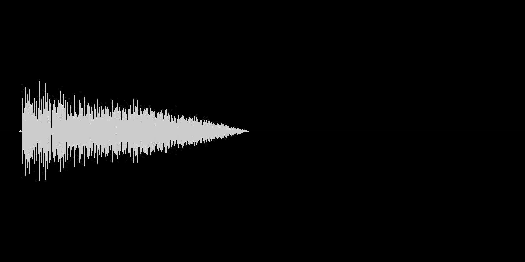 8bitの打撃 バシィの未再生の波形