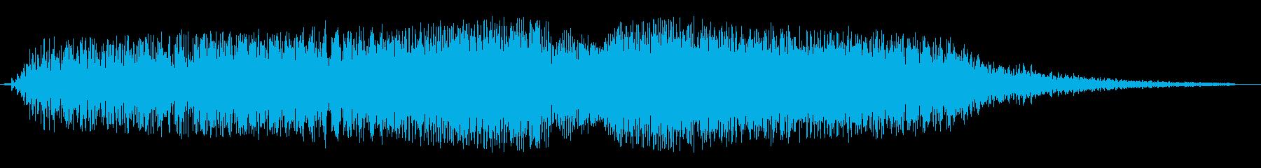 シャララ系アップダウンの再生済みの波形