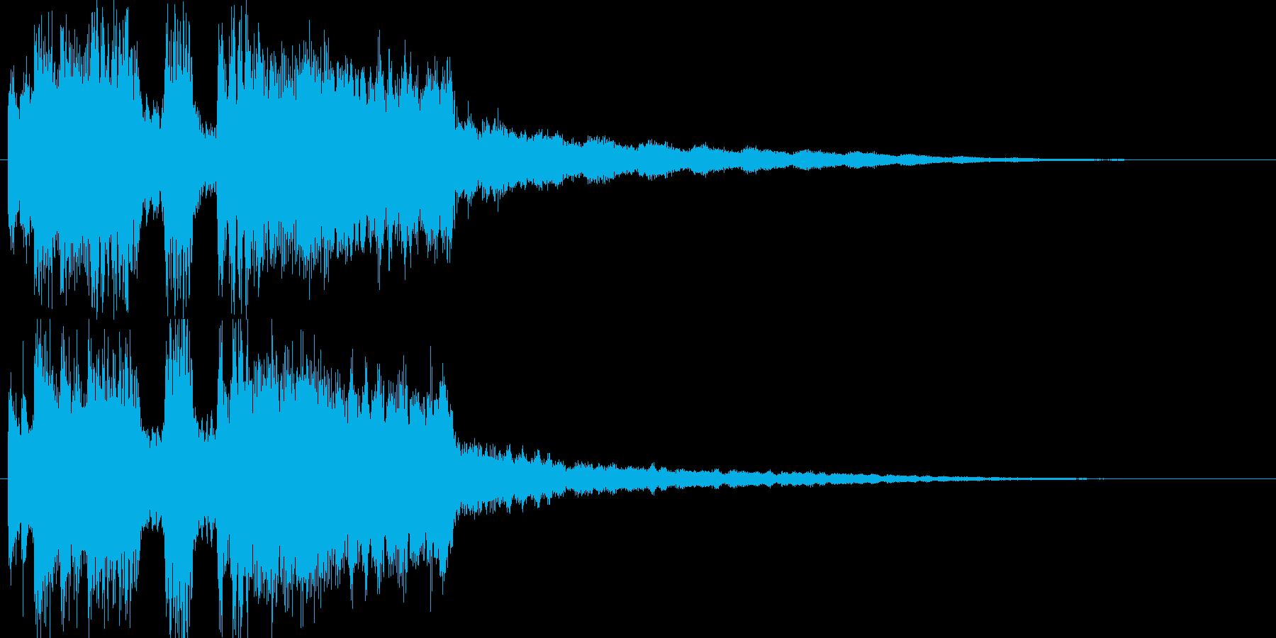 ゲーム用テクノレベルアップの再生済みの波形