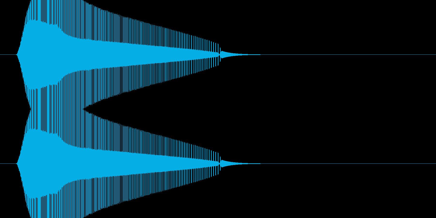 レトロゲームの効果音。アクション、シュ…の再生済みの波形