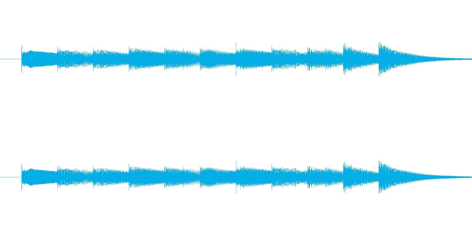 3拍子 軽やかに流れるベル音  オルゴ…の再生済みの波形
